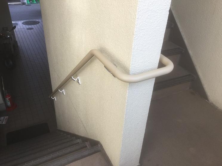 ナカ工業階段てすりスリム目地タイプグラハンプレーンタイプ